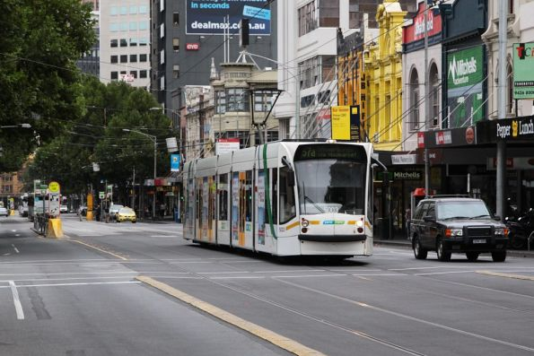 D2.5003 heads north on Elizabeth Street with a Big Day Out special for Melbourne Showgrounds