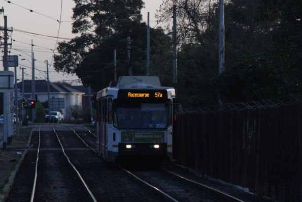 B2.2062 heads east on a route 57a service at Raleigh and Rosamond Road