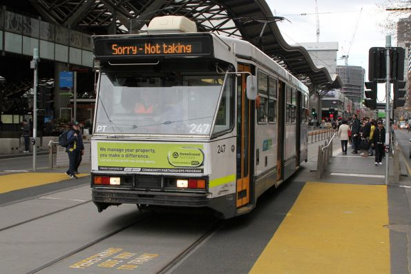 A1.247 out of service southbound at Spencer and Collins Street