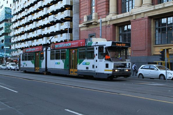 B2.2049 out of service heads south at Spencer and Bourke Street