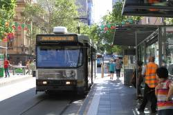 A2.272 heads west on route 109 at Collins and Swanston Street