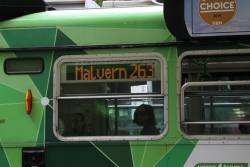 'Route 263' displayed on Z3.143 northbound at Swanston and Bourke Street