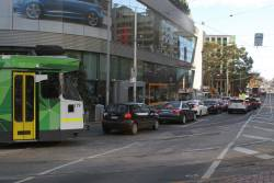 Z3.179 turns from Swanston into Victoria Street on a diverted route 58 service