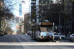 A1.258 heads west on route 96d to Southbank Depot at Bourke and William Street