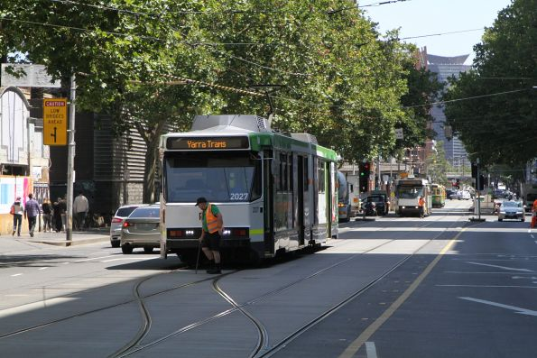 Driver of B2.2027 on route 70 terminates at Flinders and Elizabeth Street