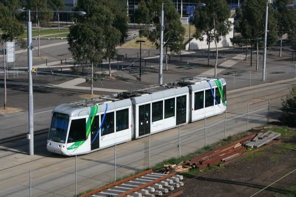 C.3023 stabled in the Melbourne Park tram siding