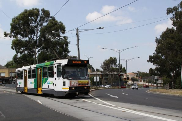 A2.295 heads west on Riversdale Road on the way to the city