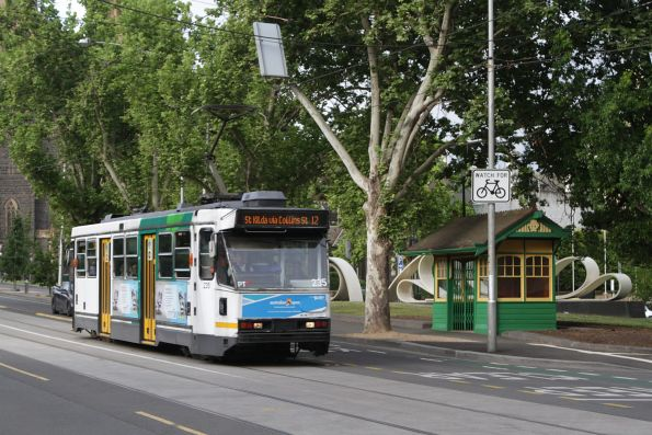 A1.235 on route 12 passes the MMTB tram shelter on Macarthur Street