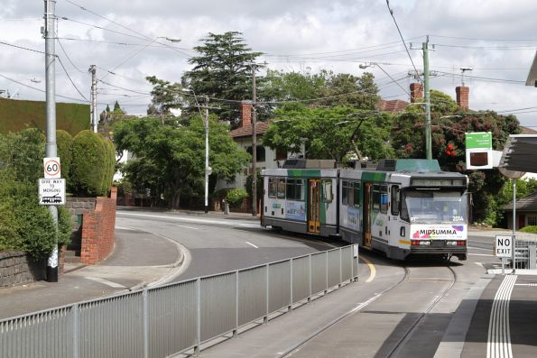 B2.2014 departs Riversdale Junction with an outbound route 75 service