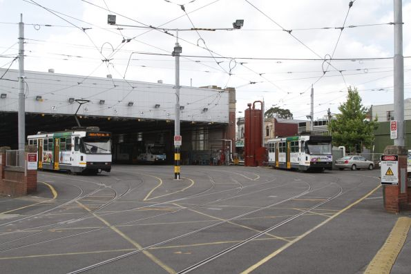 A2.272 heads into the tram shed at Camberwell Depot