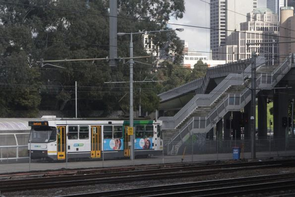 A2.281 leads a citybound route 70 service behind Rod Laver Arena