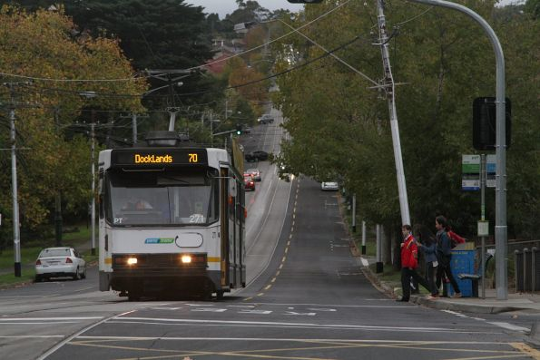 A2.271 westbound on route 70 stops for passengers at Riversdale station