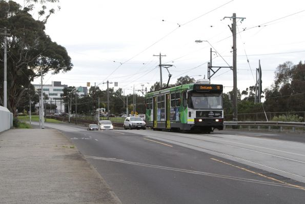 A2.273 heads west on route 70 on Swan Street at the railway bridge