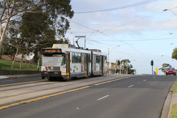 B2.2036 heads east on route 75 at Burwood Highway and Gilmour Street in Burwood