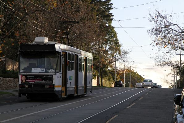 A2.294 heads west on route 70 on Riversdale Road at Riversdale station