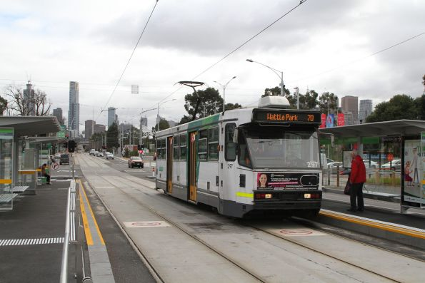A2.297 headed east on route 70 along Swan Street at Richmond station