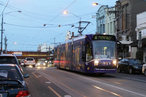 D1.3527 advertising 'Cadbury' heads south on route 16 at Glenferrie and Burwood Road
