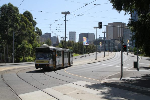 A2.295 heads south on route 70 at Exhibition Street and Batman Avenue