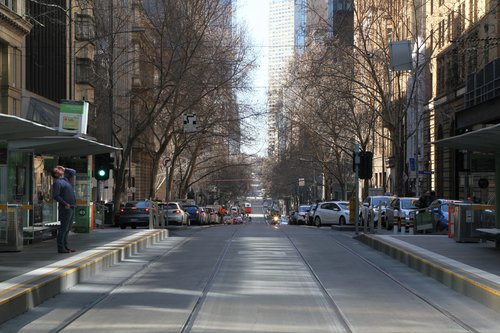 No trams to the east at Collins and William Street