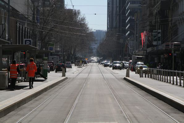 No trams to the north at Elizabeth and Collins Street