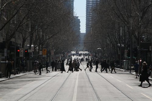 No trams to the north at Swanston and Collins Street