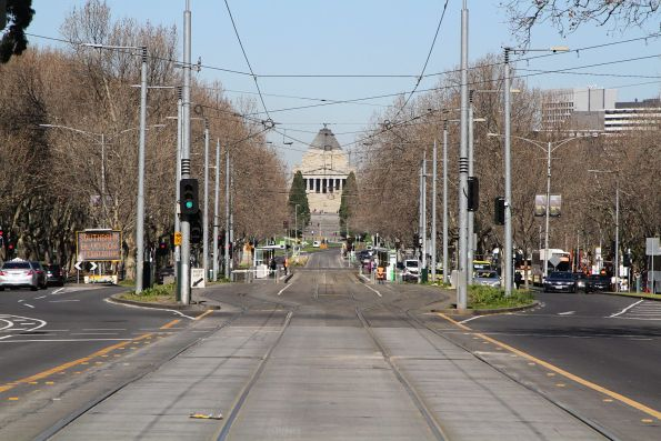 No trams to the south on St Kilda Road