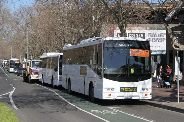 Ventura coach #637 8108AO on a route 6 tram replacement service at the Arts Centre