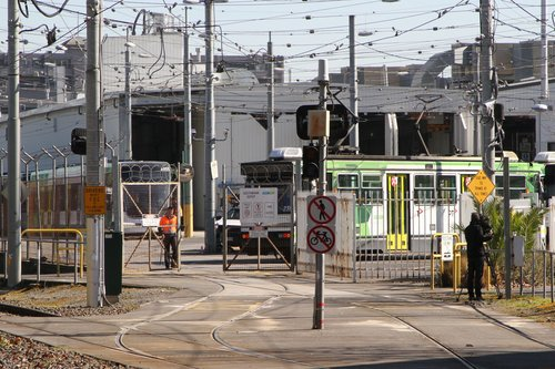 2.07 pm and the gates at Southbank Depot are opened