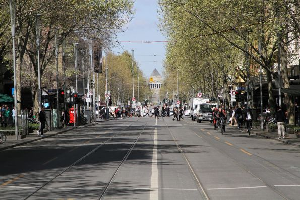 No trams on Swanston Street south of Bourke Street