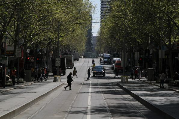No trams on Swanston Street north of Bourke Street