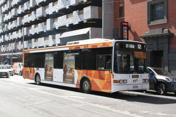 Ventura bus #517 4517AO on a route 12 tram replacement service at Spencer and Bourke Street