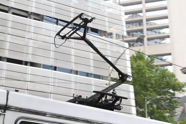 Solar powered camera watching the pantograph of tram A1.240
