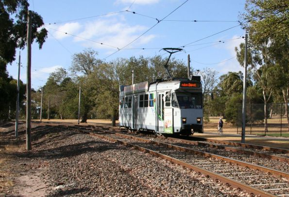 Z3.159 heads citybound through Royal Park