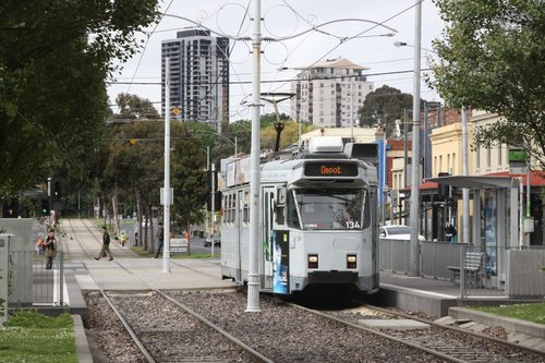 Melbourne tram Z3.134 northbound on Peel Street, North Melbourne