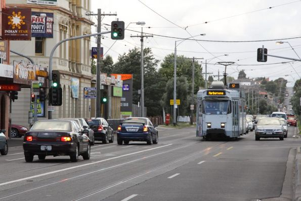 Z3.120 westbound on route 57 on Maribyrnong Road at Epsom Road