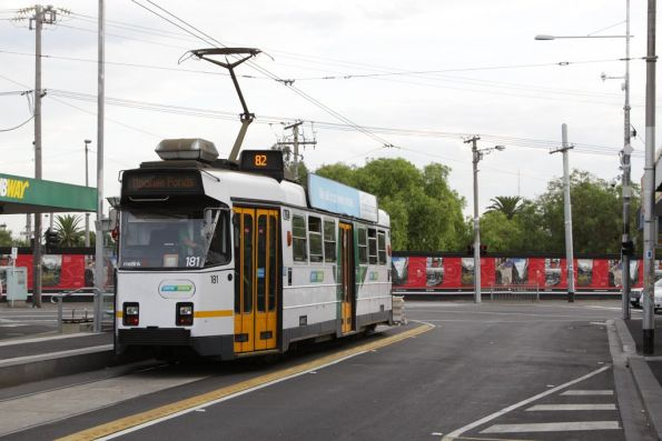 Z3.181 awaiting departure time from the route 82 terminus at Footscray