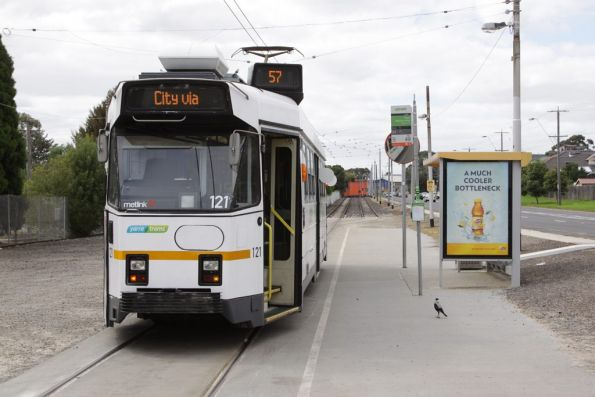 Z3.121 at the end of the line for route 57 at West Maribyrnong