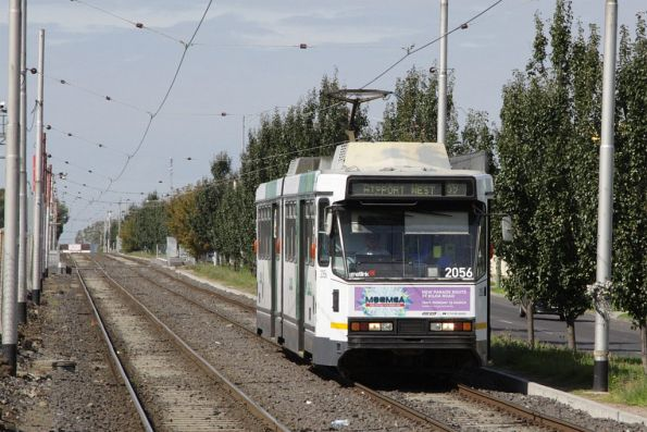 B2.2056 heads along the Matthews Road reserved track with an outbound route 59 service