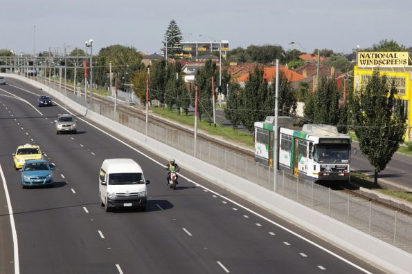 Paralleling the Tullamarine Freeway and Matthews Road in Airport West, B2.2056 with an outbound route 59 service
