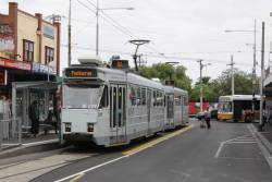 Pair of trams at the Footscray terminus: Z3.229 and Z3.118