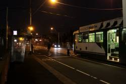 Everyone off: a B2 class tram arrives at Essendon Depot