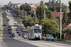 Z3.172 climbs through the 'big dipper' on Melville Road, West Coburg
