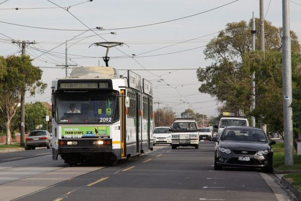 B2.2092 arrives at the West Coburg terminus