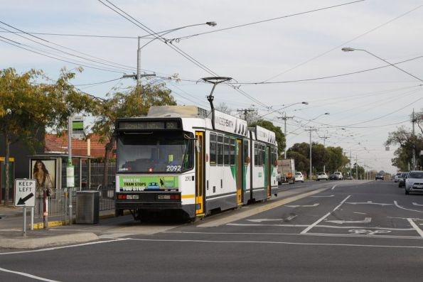 West Coburg terminus, with B2.2092 awaiting departure time