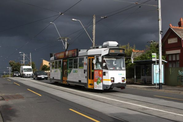 Z3.181 eastbound on Maribrynong Road at Ascot Vale station