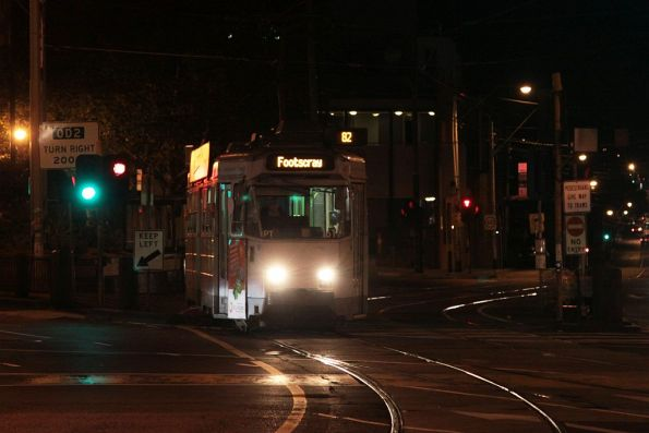 Z3.161 ex-Essendon Depot forms a Footscray-bound route 82 service at Moonee Ponds