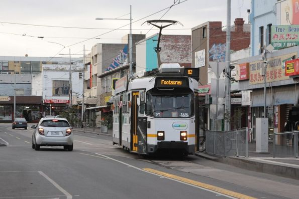 Z3.165 arrives at the route 82 terminus in Footscray