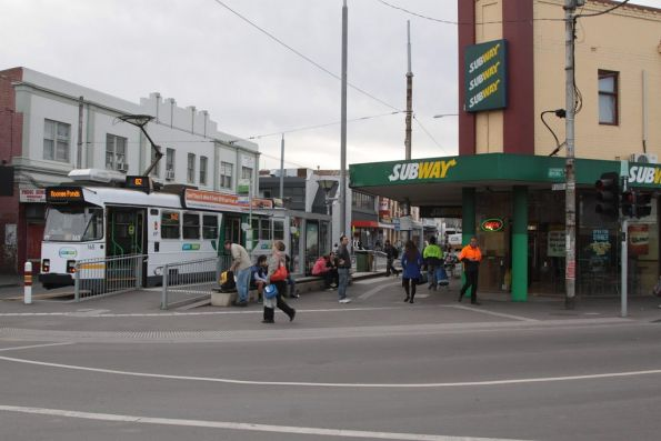Route 82 terminus in Footscray, with Z3.165 awaiting departure time