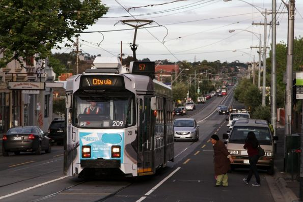 Z3.209 at the corner of Maribyrnong and Union Road