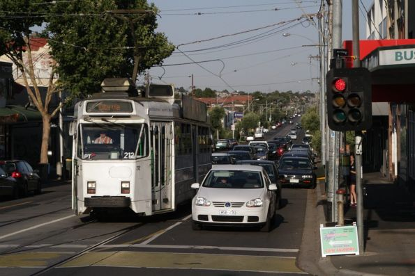 Z3.212 waiting to turn from Maribyrnong Road into Union Road on route 57